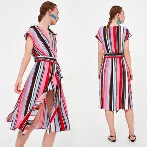 Zara Midi dress with multicolored stripes 208